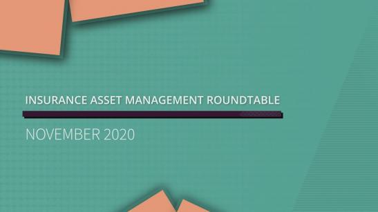 Insurance Asset Management roundtable | November 2020
